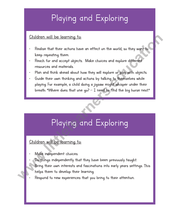 Characteristics of Effective Learning Cards